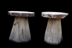 Drewniany krzesło rocznika bliźniak w czerni Zdjęcia Stock