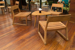 Drewniany Krzesło & Stół Fotografia Royalty Free
