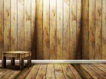 Drewniany krzesło w pokoju royalty ilustracja