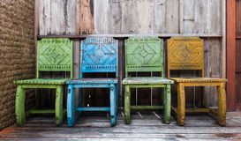 Drewniany krzesła i rocznika styl Fotografia Stock