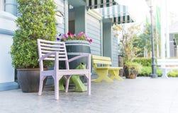 Drewniany krzesło Zdjęcia Royalty Free