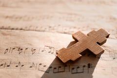 Drewniany krzyż zdjęcia stock