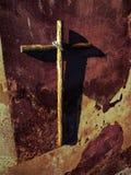 Drewniany krzyż Obrazy Stock