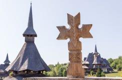 Drewniany krzyż Fotografia Stock