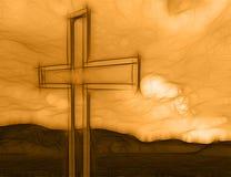 Drewniany krzyż Zdjęcia Royalty Free