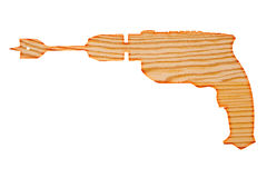 Drewniany kształt wiertnicza maszyna Fotografia Royalty Free