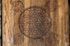 Drewniany kwiat życie. Fotografia Royalty Free