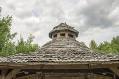 Drewniany lath dach zdjęcie royalty free