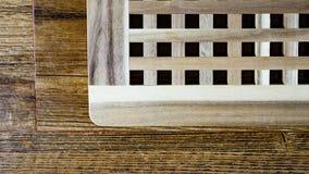 Drewniany lath na drewno płytce fotografia royalty free