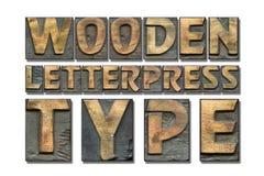 Drewniany letterpress typ Obrazy Stock