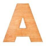 Drewniany list A Obrazy Stock