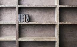 Drewniany list biz zdjęcie royalty free