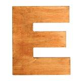 Drewniany list E Obrazy Stock