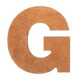Drewniany list G Obraz Stock