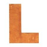 Drewniany list L Zdjęcie Royalty Free
