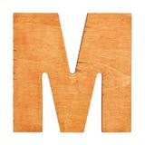 Drewniany list M Fotografia Royalty Free