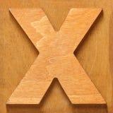 Drewniany list X obraz stock