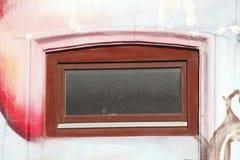 Drewniany lochu okno obrazy royalty free