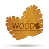 Drewniany logo Wektoru rożek Obraz Stock