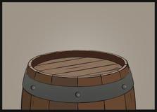 Drewniany lufowy tło z żelaznymi pierścionkami Obrazy Stock