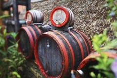 drewniany lufowy wino Zdjęcia Royalty Free