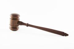 drewniany młoteczkowy sędzia Fotografia Stock