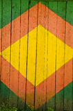 Drewniany malujący drzwiowy tło Fotografia Royalty Free