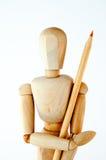 Drewniany mannequin Zdjęcie Stock