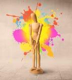 Drewniany mannequin Zdjęcia Royalty Free