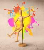 Drewniany mannequin Obrazy Stock