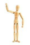 Drewniany mannequin falowanie Zdjęcie Royalty Free