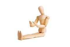 Drewniany mannequin odizolowywający na bielu Obraz Stock