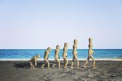 Drewniany mannequin pierwowzór ludzka ewolucja ilustracji