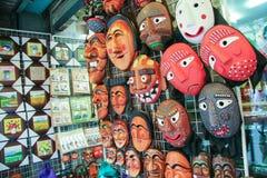 Drewniany maska sklep Fotografia Stock