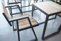Drewniany meble w przemysłowym stylu Fotografia Royalty Free