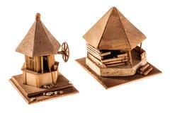 Drewniany mieszkanie Obrazy Stock