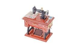 Drewniany model rocznik szwalna maszyna Zdjęcie Royalty Free