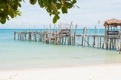 drewniany mola stary morze Obrazy Royalty Free