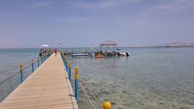 Drewniany molo w morzu zbiory wideo