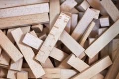 Drewniany Montessori kapla materiał dla budów fotografia stock
