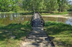 drewniany most Zdjęcie Stock