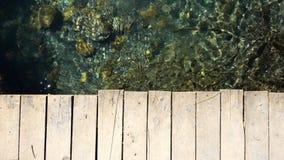 Drewniany most i rzeka zbiory