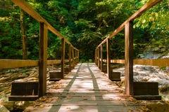 Drewniany most nad Agura rzeką, Sochi, Rosja Obrazy Royalty Free