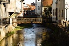 Drewniany most nad rzek? w Samobor, Chorwacja obraz stock