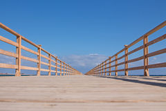 Drewniany most nieskończoność Fotografia Stock