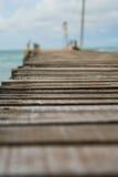 Drewniany most przy Koh Samet wyspą Tajlandia Zdjęcie Stock