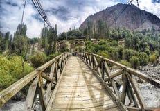 drewniany most przy Leh Ladakh Fotografia Royalty Free