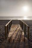 Drewniany most przy plażą Obraz Royalty Free