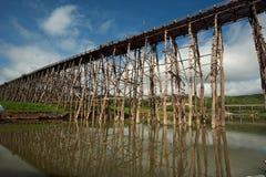 Drewniany most przy Sangkhaburi obrazy stock