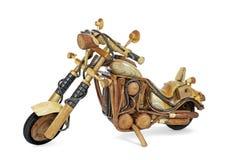 Drewniany motocykl Obrazy Stock